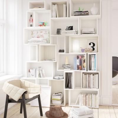 Shelf of boxes